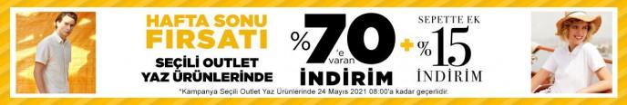 Mudo Hafta Sonu Fırsatı: Seçili Outlet Ürünlerinde %70+%15e Varan İndirimler