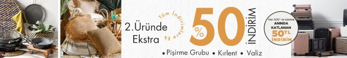 Mudo Pişirme Grubu Ürünlerinde 2. Ürüne %50 Ekstra İndirim