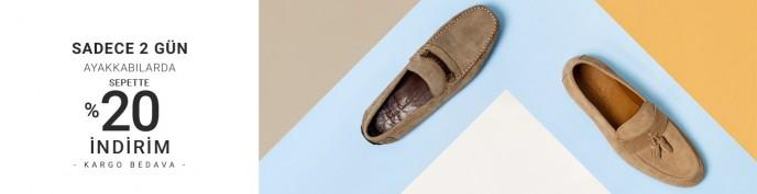 Pierre Cardin Ayakkabılarda Sepette %20 İndirim Fırsatı!