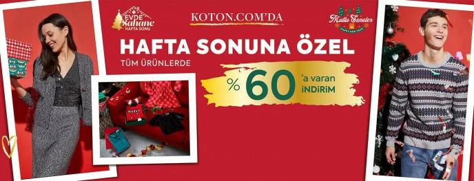 Koton'da Hafta Sonuna Özel Tüm Ürünlerde %60 İndirim
