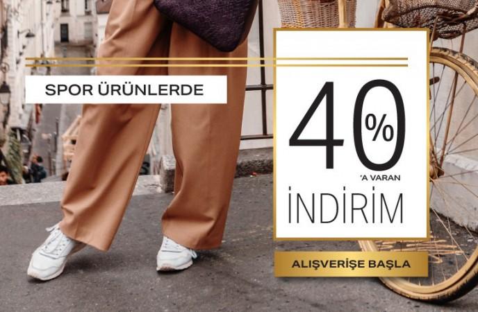 Ayakkabı Dünyası Spor Ürünlerde %40 İndirim!