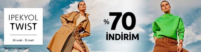 İpekyol ve Twist Ürünlerinde Geçerli %70 İndirim Trendyol'da!