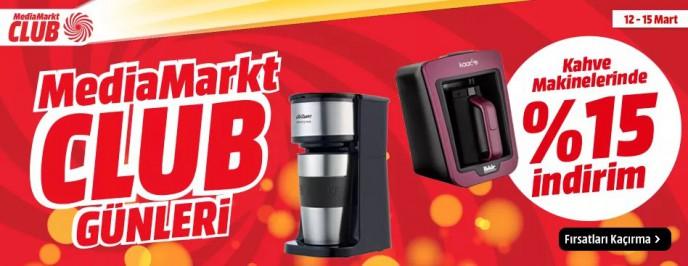 MediaMarkt Kahve Makinelerinde Geçerli %15 İndirim!