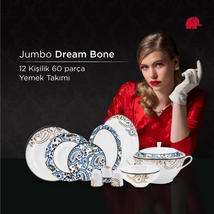 Jumbo'da Dream Bone 12 Kişilik 60 Parça Yemek Takımı Kampanyası!