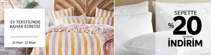 Trendyol Ev Tekstilinde Bahar Esintisi! Sepette %20'ye Varan İndirimler