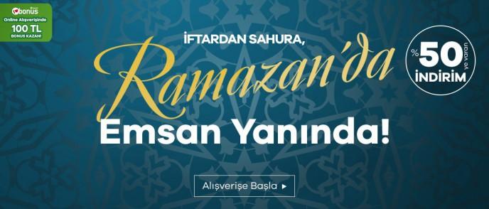 Emsan'da Ramazana Özel %50'ye Varan İndirim Kampanyası