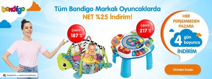 Ebebek Bondigo Markalı Oyuncaklarda Net %25 İndirim