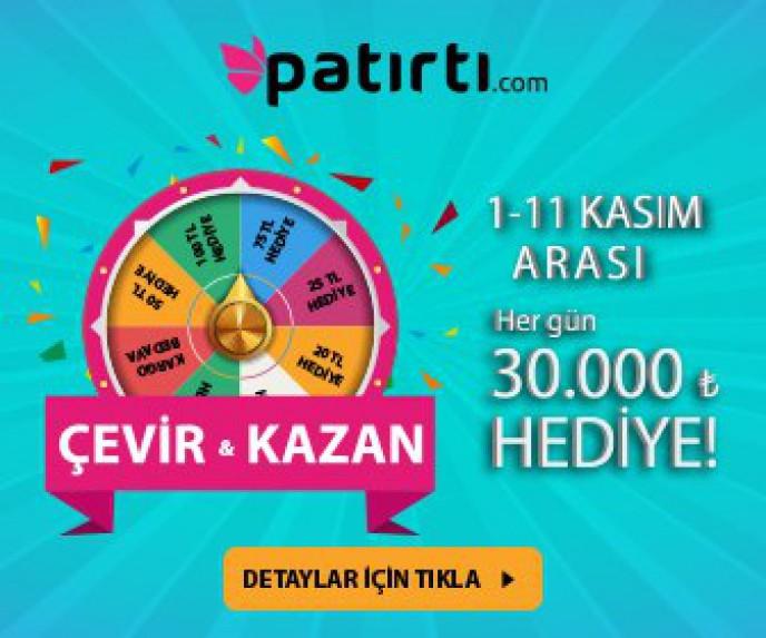 Patırtı.com' dan Her Gün 30.000 TL Hediye