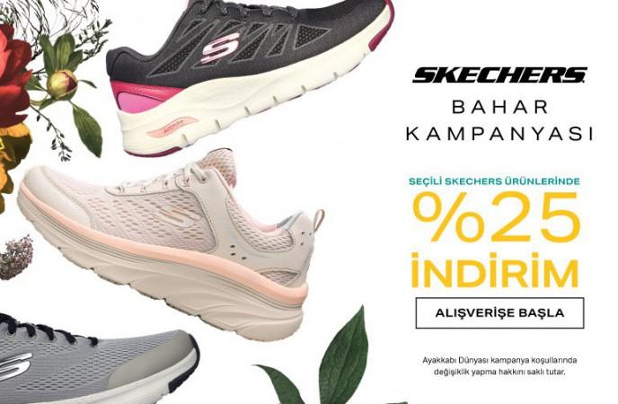 Skechers Bahar Kampanyası'na Özel %25 İndirim Ayakkabı Dünyası'nda!