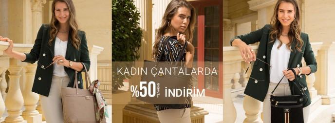Pierre Cardin Kadın Çanta Modellerinde %50'ye Varan İndirim!