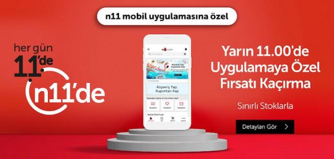 Her Gün 11'de n11 Mobil Uygulamasına Özel Fırsatlar