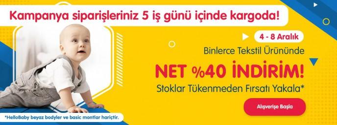 Bebek Giyim Ürünlerinde NET %40 İNDİRİM!