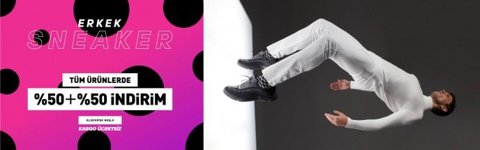 Hotiç Erkek Sneaker, Bot ve Çizme Modellerinde %50+%50 İndirim