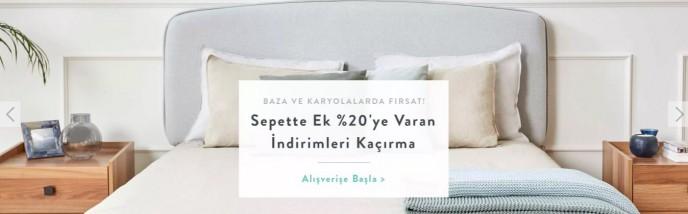 Vivense Baza ve Karyolalarda Sepette %25 İndirim Fırsatı!