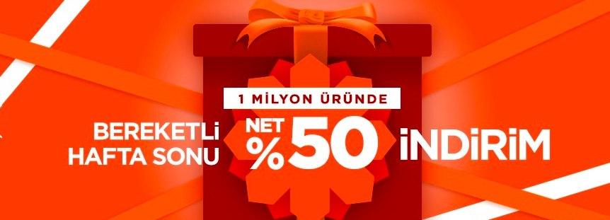 Modanisa'da Bereketli Haftasonu! 1 Milyon Üründe %50 Net İndirim! Kupon Kodunuzu Almayı Unutmayın